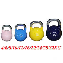 China Wholesale Competition Kettlebell 16kg with Stainless Steel Charm